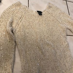 Knitted shimmery/sequin sweater